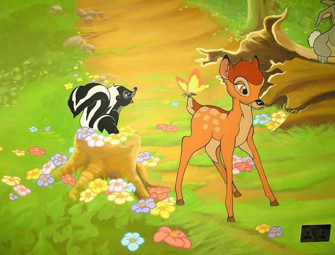 Pixar Cars Wallpaper Border Disney World Bambi And Friends Cartoon Wallpaper