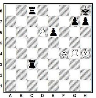 Estudio artístico de ajedrez compuesto por E. Dobrescu (2º Premio, 4º WCCT, 1989-1992)