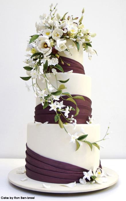 wedding cake floral wedding cakes with fresh flowers 2012 22663