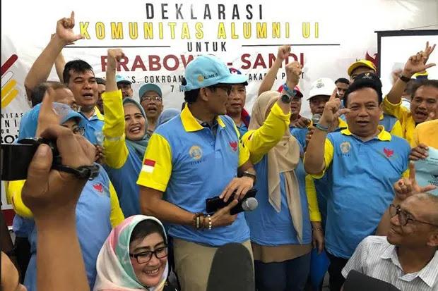 Komunitas Alumni UI Deklarasi Dukung Prabowo-Sandi