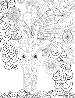 Here Is An Animal Adult Coloring Page To Print For Free Giraffes Are The Tallest Terrestrial Animals Download P