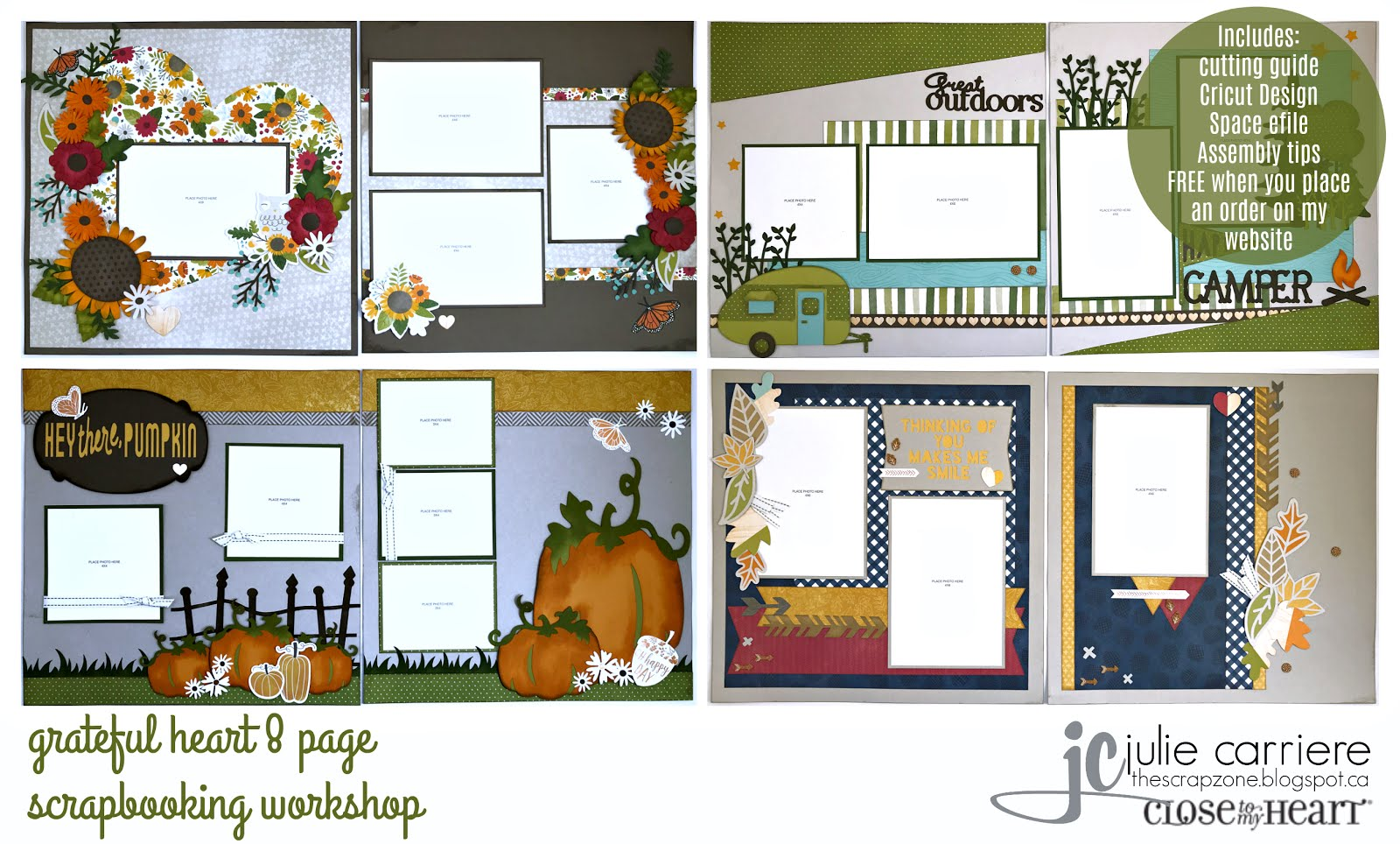 Grateful Heart Scrapbooking Assembly Guide