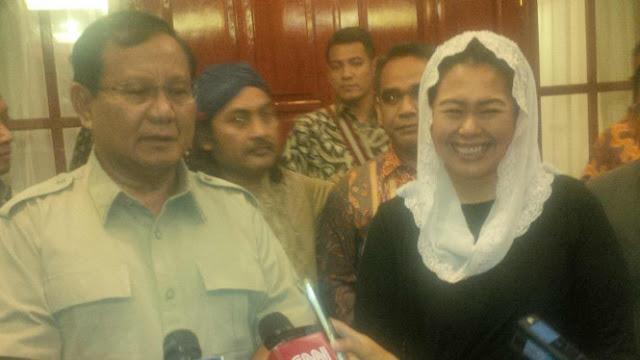 Yenny Wahid Diharapkan Gabung Tim Prabowo karena Suaminya Elite Gerindra