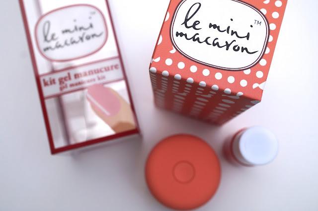 Le Mini Macaron Gel Manicure Kit 'Pêche'