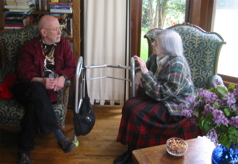 Albert Marsh talking with Rose Harris