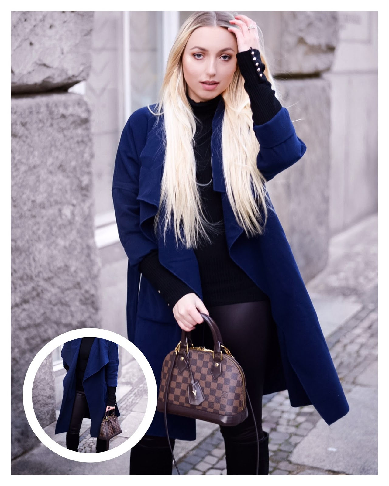 shein navy blue coat, collar coat, bürotaugliche kleidung, bürotauglich outfit
