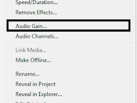 Memperkecil/Memperbesar Audio (suara) di Adobe Premiere Pro