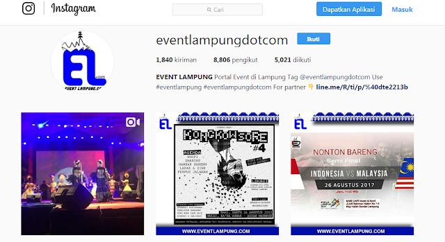 Akun Instagram Populer di Lampung
