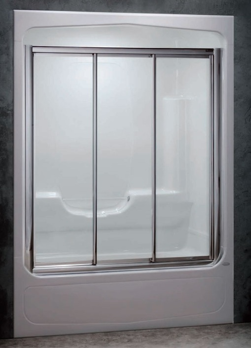 Shower doors of USA: 3 Panel Winston Tub Enclosure