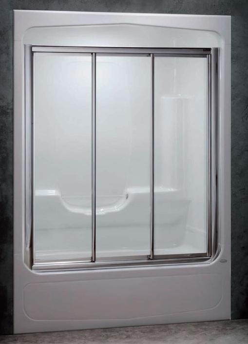 Shower doors of USA: 3 Panel Winston Tub Enclosure