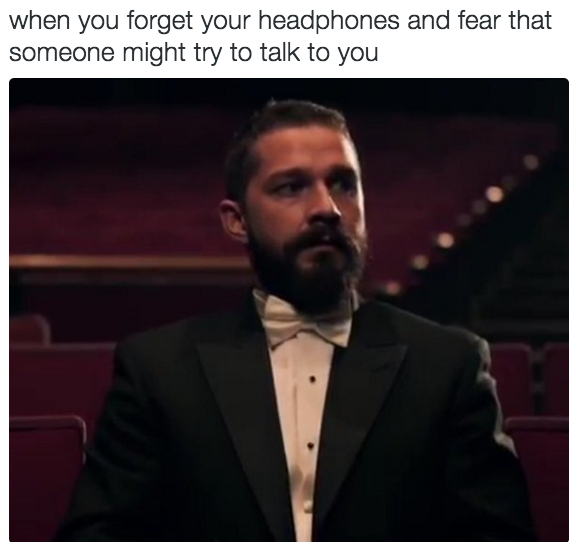21 Insanely Useful Skills Every Introvert Has Mastered - Using headphones as a weapon of defense.