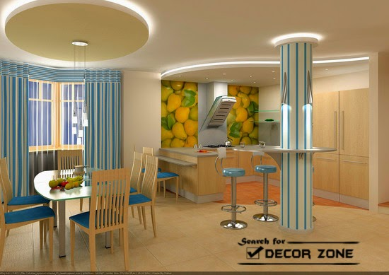 30 false ceiling designs for bedroom kitchen and dining room for Design of false ceiling for home