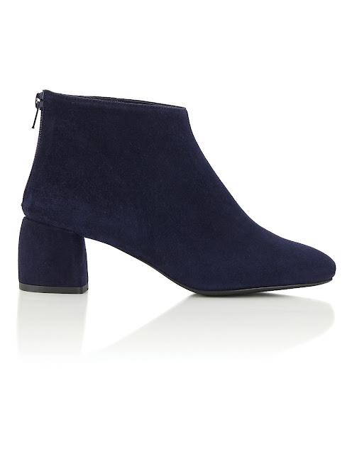 madeleine soft suede block heel ankle boots
