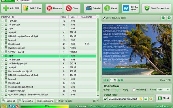 Free PDF To JPG Converter 3.58 - Μετατρέψτε αρχεία PDF σε εικόνες