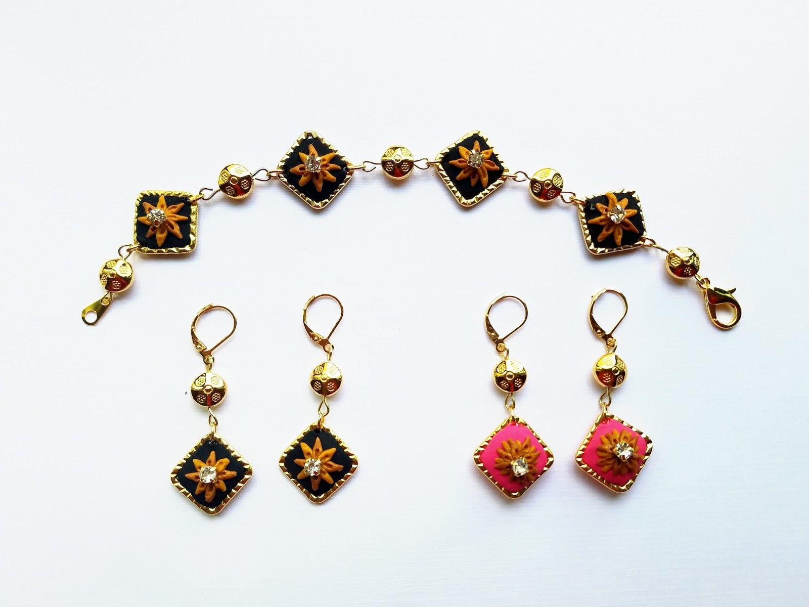 art and craft work  handmade clay jewelry