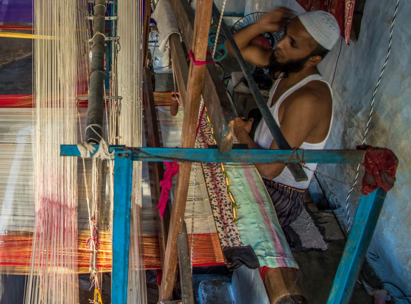 A weaver and his Loom