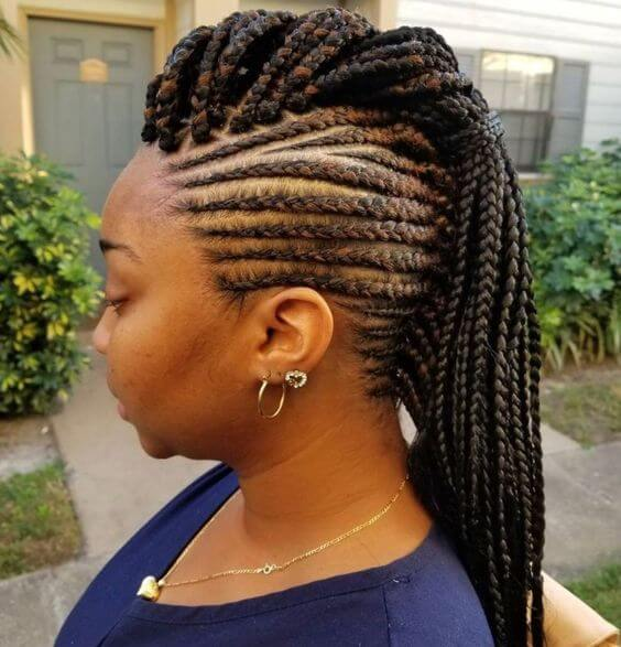 47+ Latest Cornrows Braided Hairstyles 2019 For African Girls To Wear - Fashionuki