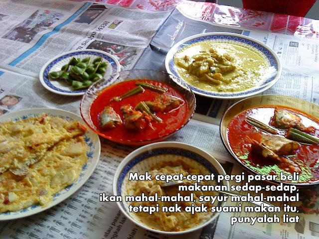 makanan kampung, makanan sedap, kampung, anak derhaka