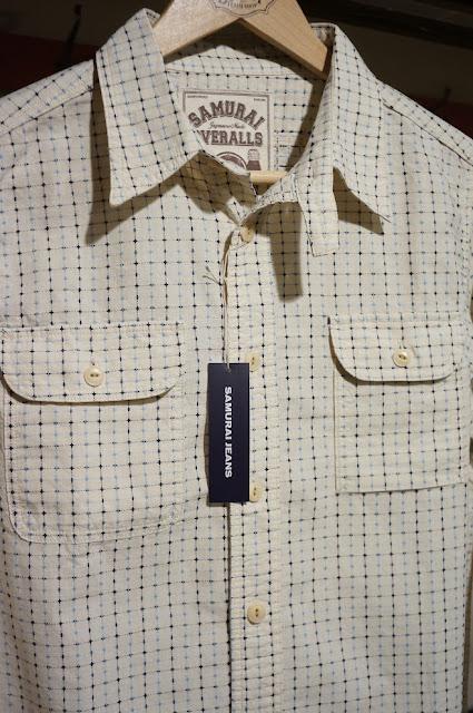 サムライジーンズ 刺し子チェックワークシャツ