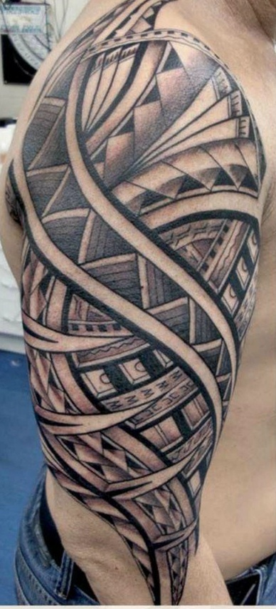 Maori Tattoo Patterns: Arm Tattoos For Men-Tattoo Patterns