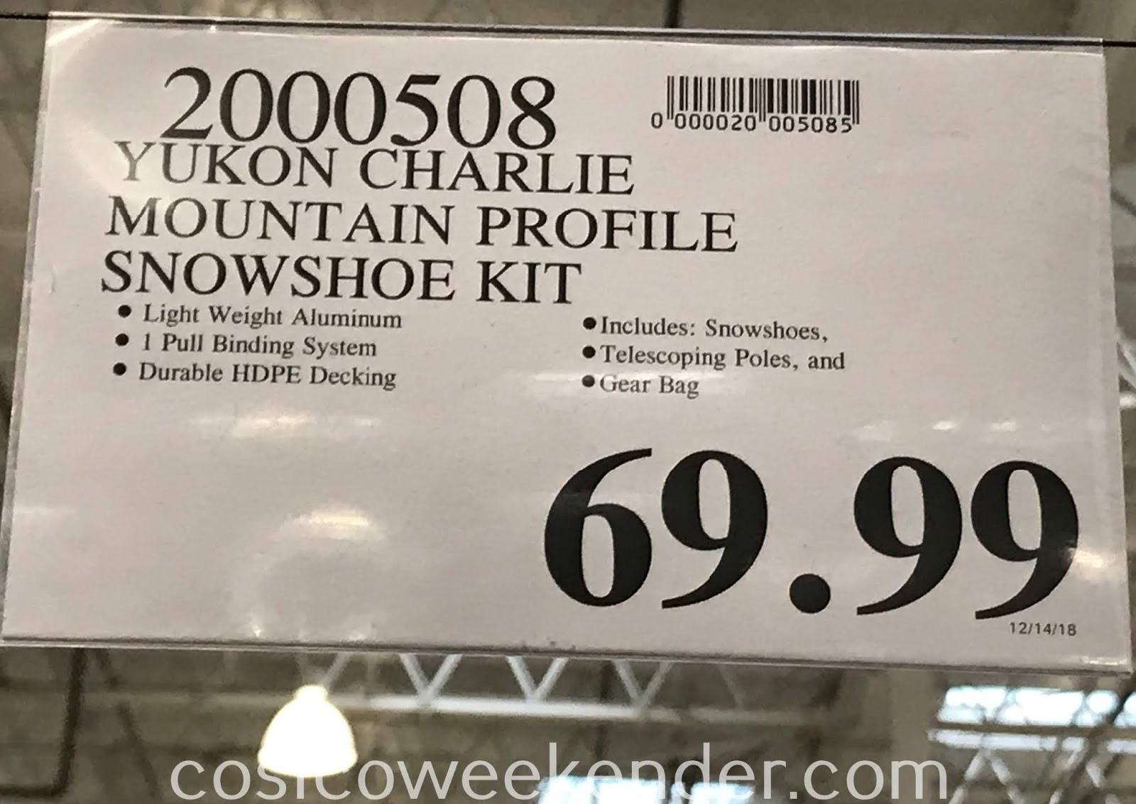 Deal for the Yukon Charlie Mountain Profile Snowshoe Kit at Costco