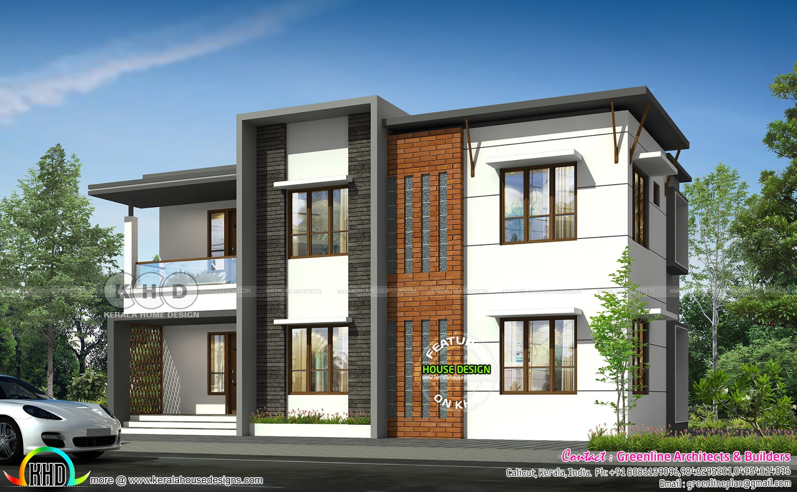 1876 square feet 3 bedroom modern flat roof house - Kerala ...