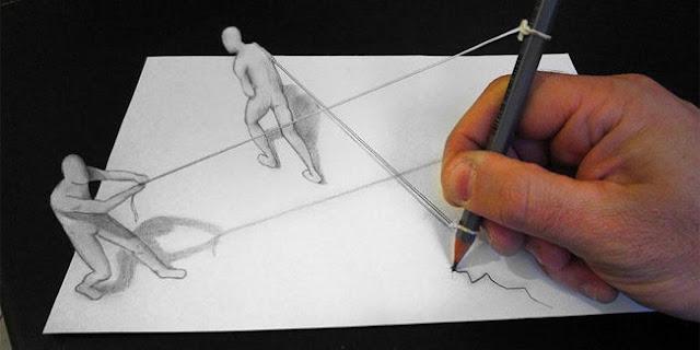 Pria Yang Satu Ini Bisa Membuat Sketsa Terlihat Nyata