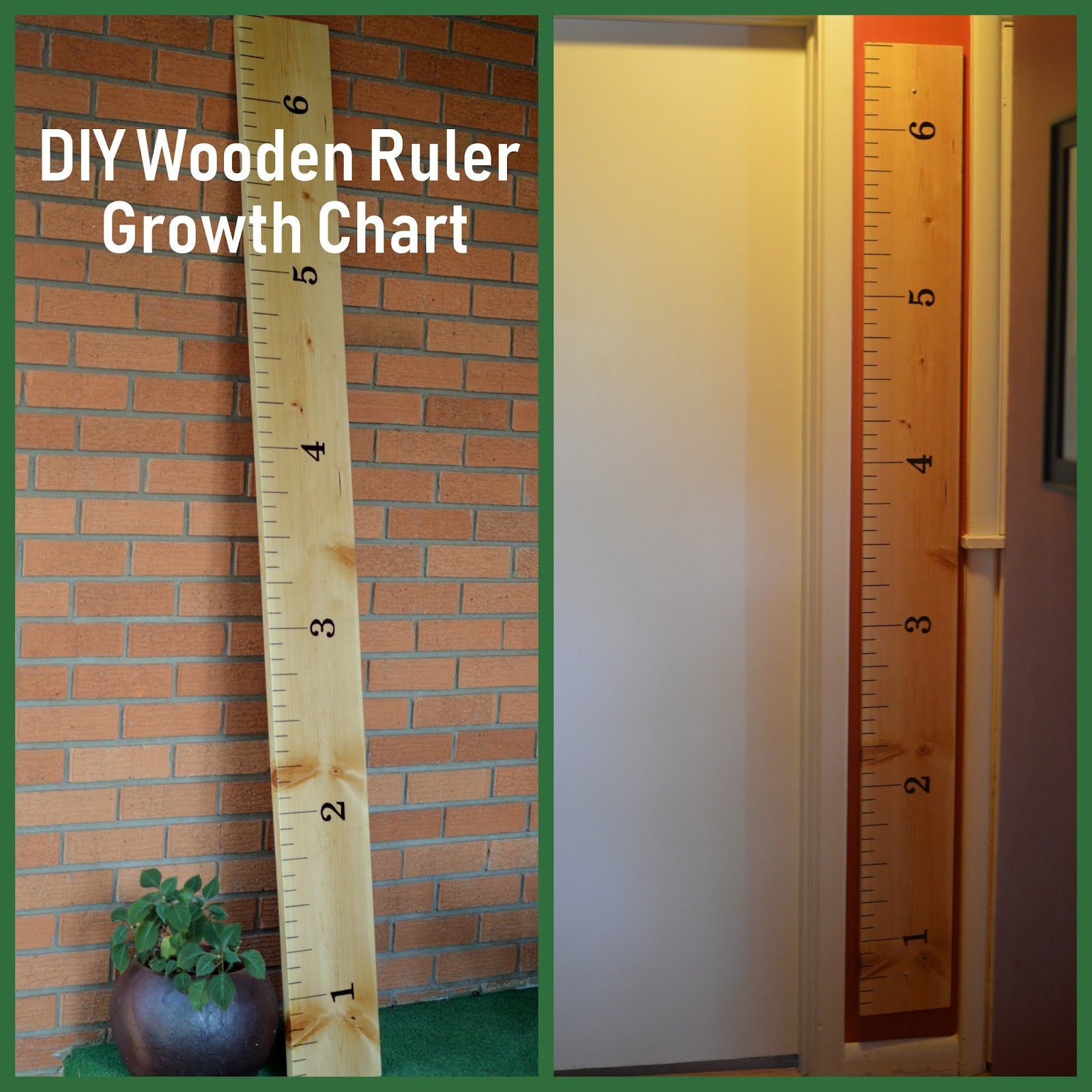 What I Live For Diy Wooden Growth Chart