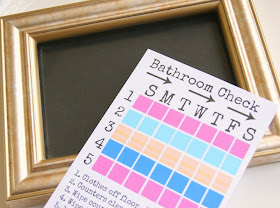 Help your teen keep their bathroom clean with a free printable @michellepaigeblogs.com