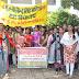 महिलाओं पर बढ़ते अत्याचार के विरोध में छात्राओं ने निकाली रैली