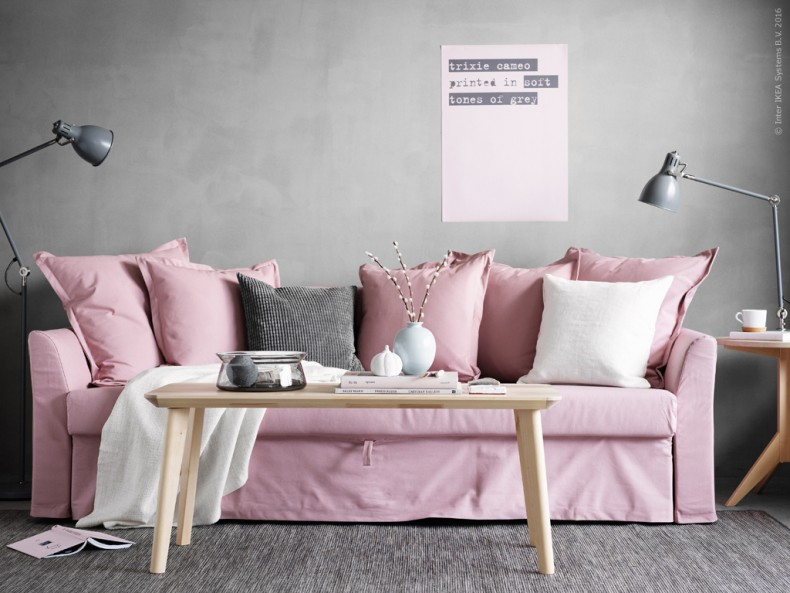 The Dreamiest Pink Ikea Couch