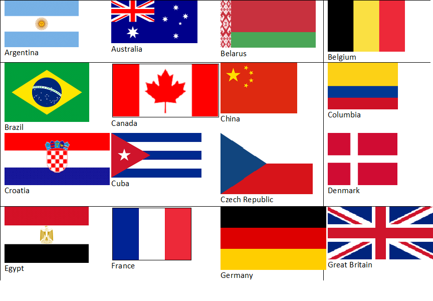 This is a picture of Lively Flags of the World Printable Pdf
