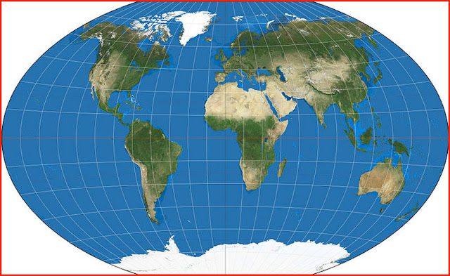 image: World map on the Winkel tripel projection