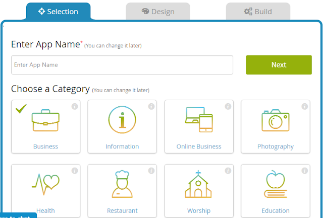 Isi Nama App dan Kategori App
