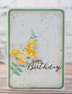 Fresh Vintage Butterfly Basics Birthday Card - buy Stampin' Up! UK Supplies to make this card here