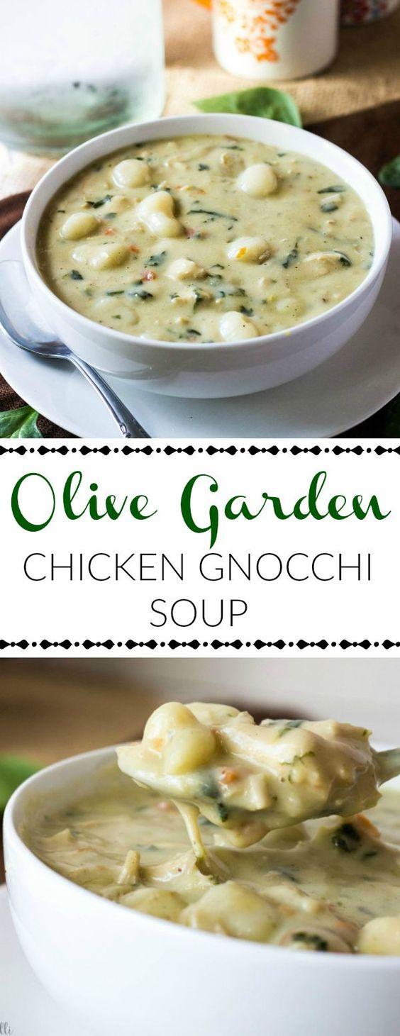 olive garden chicken gnocchi soup | easy healthy dinner