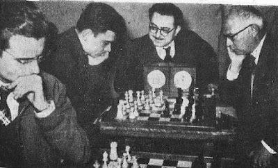 Partida de ajedrez Mario Borao vs. Antonio romero del Campeonato de Aragón de 1958