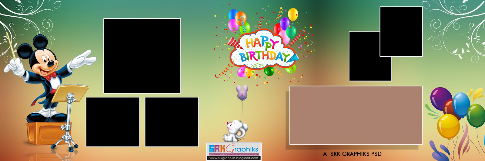 PSD 12 36 Karizma Birthday Album Templates SRK GRAPHICS