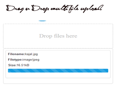 Drag n Drop MultiFile Upload with HTML5-API