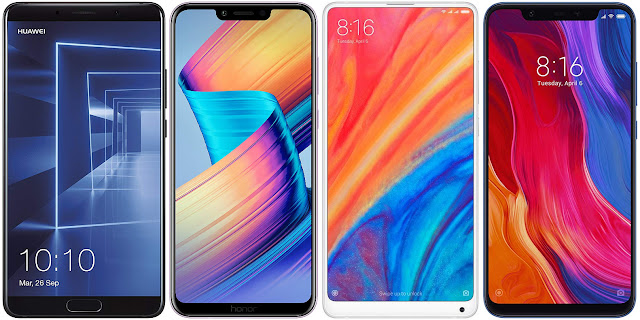 Huawei Mate 10 vs Honor Play vs Xiaomi Mi 8 vs Xiaomi Mi Mix 2s