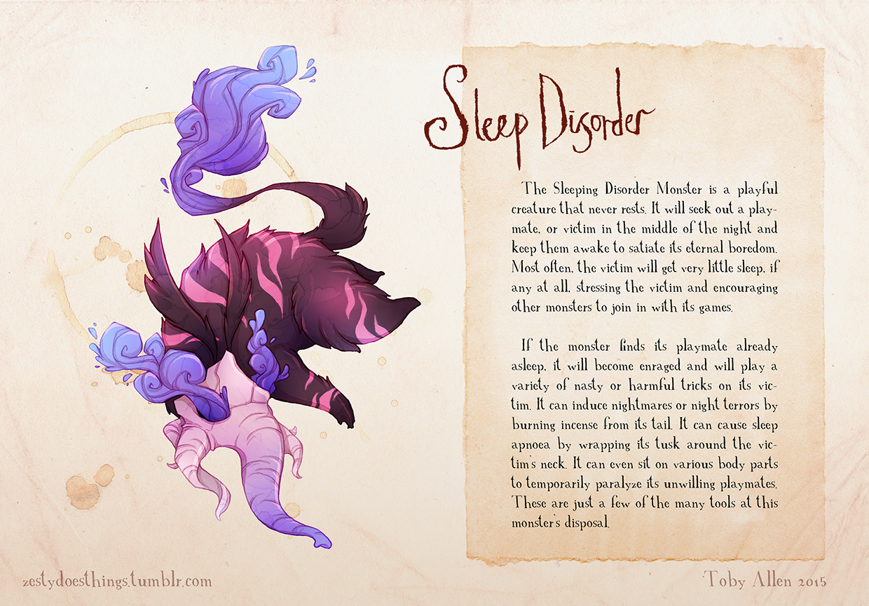 15-Sleep-Disorder-Toby-Allen-Monster-Illustrations-to-Embody-Mental-Illness-www-designstack-co