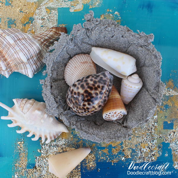 Planning a Spring Break or Summer trip to the beach?  Enjoy the sand and seashells longer with this fun beach sand trinket dish DIY.