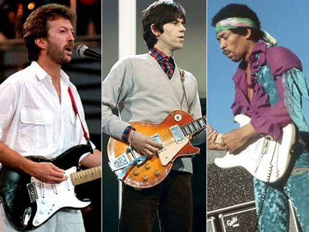 para legendaris gitaris dengan gitar dengan harga tertinggi di dunia
