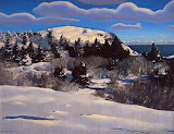 Maine Headland. Winter by Rockwell Kent - Landscape Paintings from Hermitage Museum