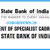 State Bank of India (SBI) Recruitment 2017 for Specialist Cadre Officers