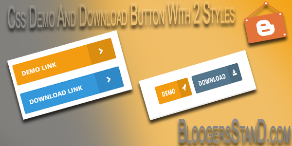 How To Add Demo And Download Buttons In Blogger template with fontawesome icon and css