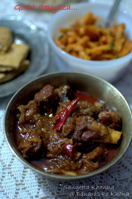 gosht dopyaza or mutton dopyaza recipe