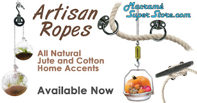 All Natural Artisan Ropes. Cotton, Jute and Shiny Accents