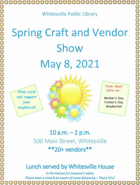 5-8 Whitesville Library Spring Craft And Vendor Show