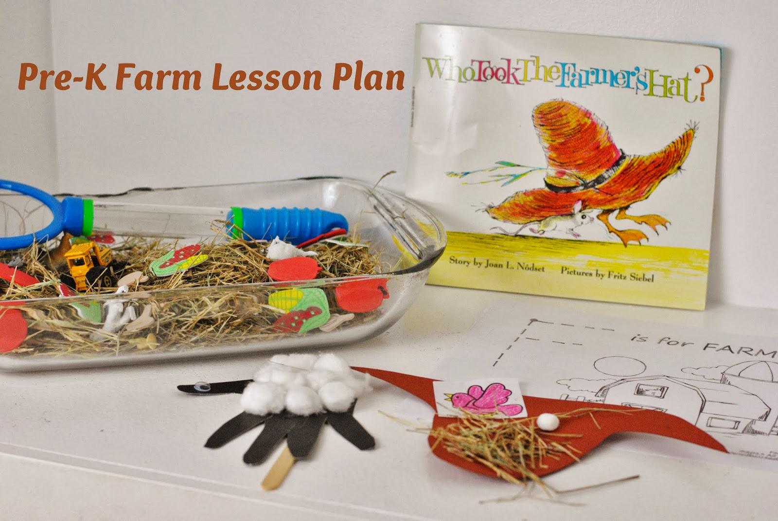 Life With 4 Boys Pre K Farm Themed Lesson Plan